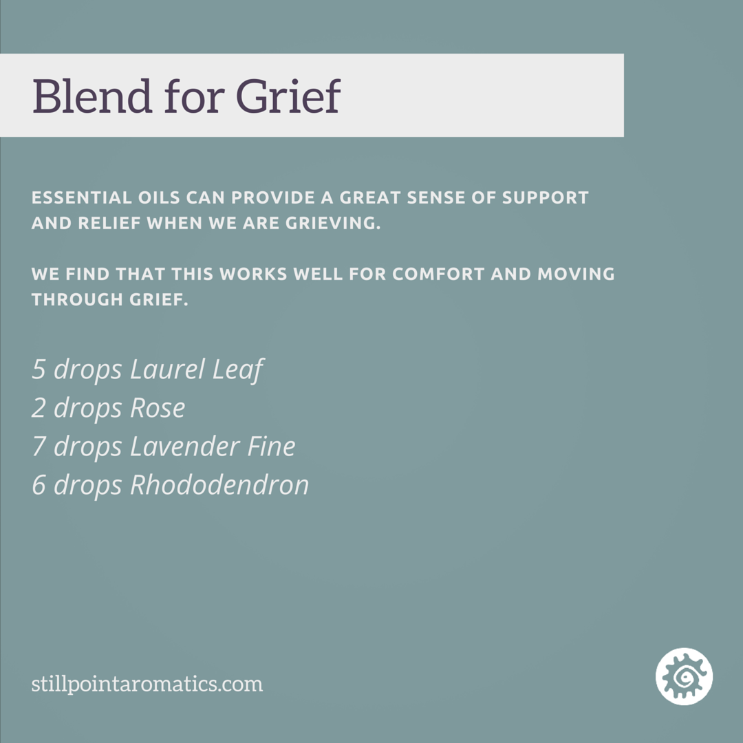 Stillpoint essential oil blend for grief