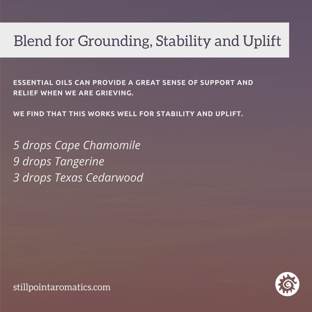 Stillpoint essential oil blend for grounding, stability and uplift