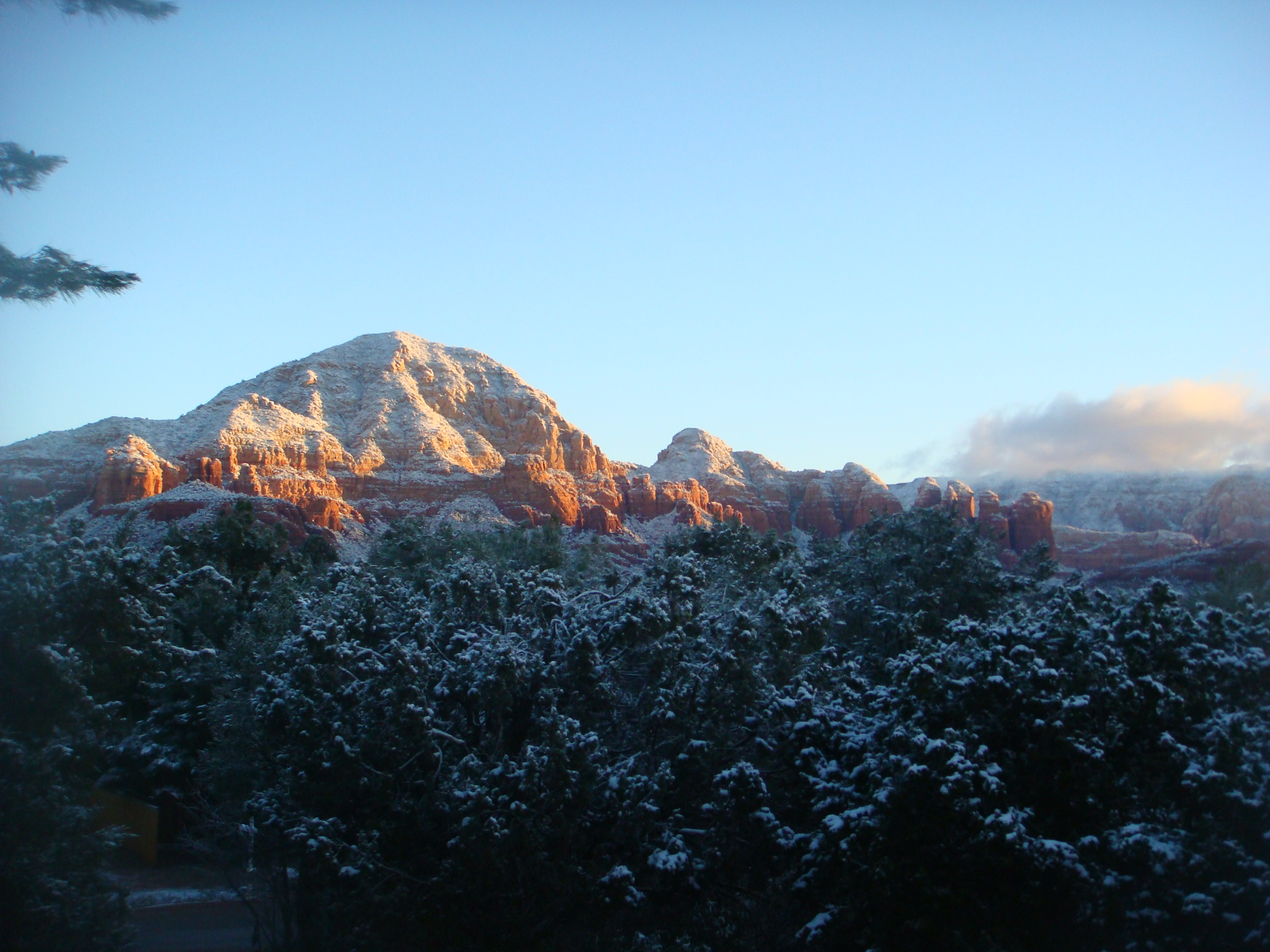 snowy sedona at stillpoint
