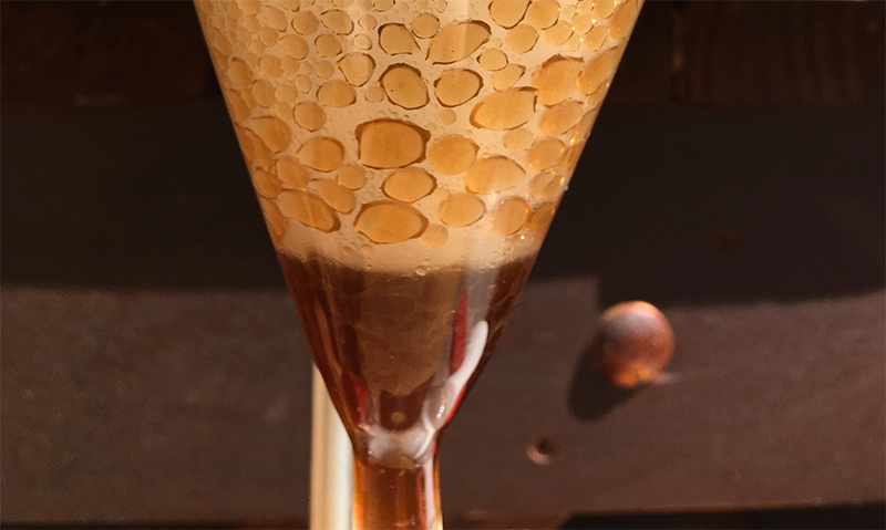 Extracting clove oil in a funnel