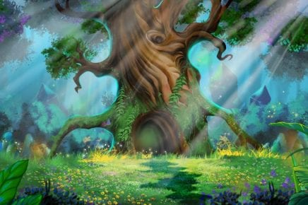 Illustration of the magical Elder tree