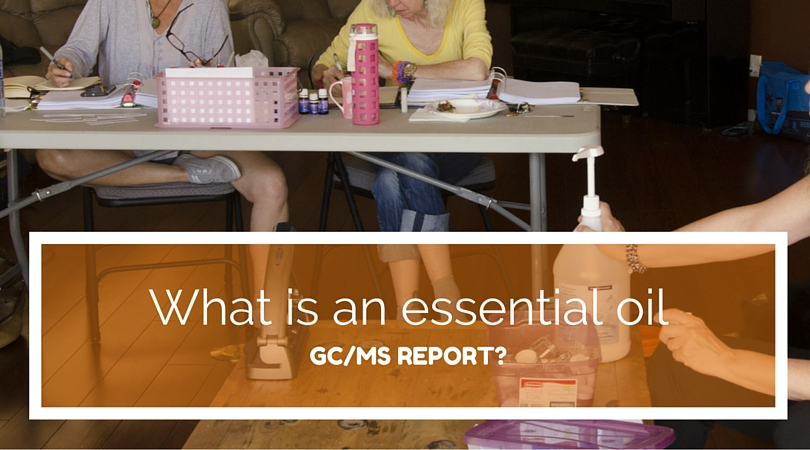 What is an essential oil GC/MS report?